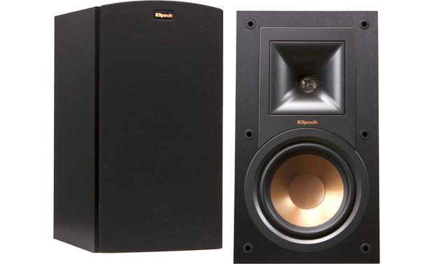 Klipsch Reference R-15M Shown with and without grille
