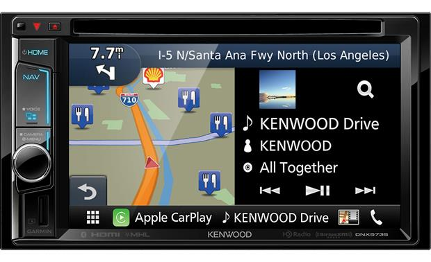 Kenwood DNX573S Split screen operation lets you see your musical sources and maps at the same time