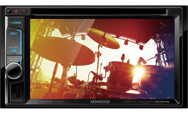 Kenwood DNX573S Images and video look great on the clear resistive touchscreen