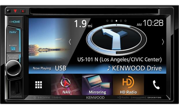 Kenwood DNX573S Widgets and icon make it easy to see what's happening