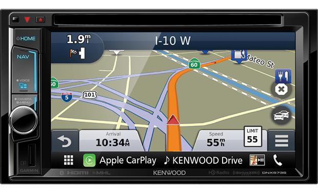 Kenwood DNX573S Garmin maps keep you on the right route