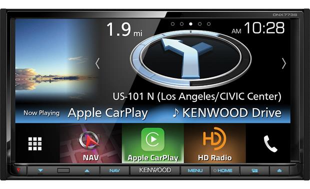 Kenwood DNX773S Widgets and large icons make it easy to see what's happening