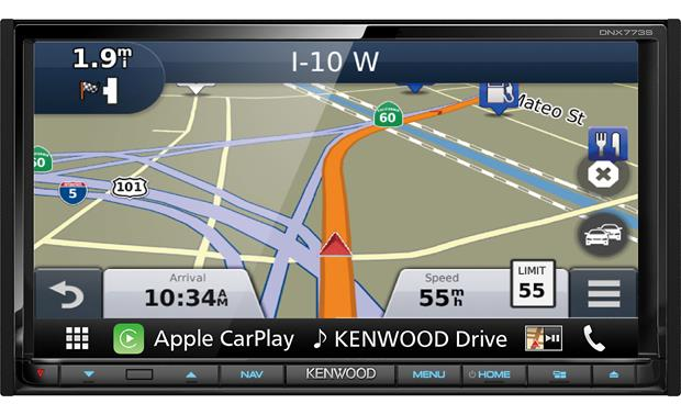 Kenwood DNX773S Garmin GPS keeps you on the right path