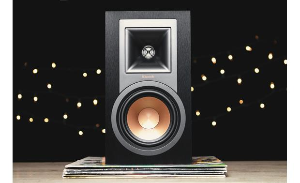 Klipsch R-15PM/Pro-Ject Debut Carbon The copper spun woofer is a Klipsch hallmark