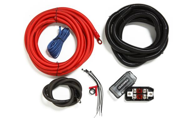 Crutchfield CK4 4-gauge amplifier power wiring kit at Crutchfield.com