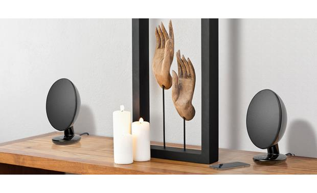 KEF EGG Black - use as traditional stereo speakers