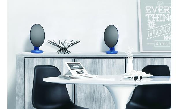 KEF EGG Blue - stream wirelessly via Bluetooth (tablet not included)