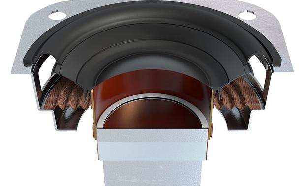 KEF MUO Speaker cutaway, showing the tweeter dome (center) decoupled from the driver