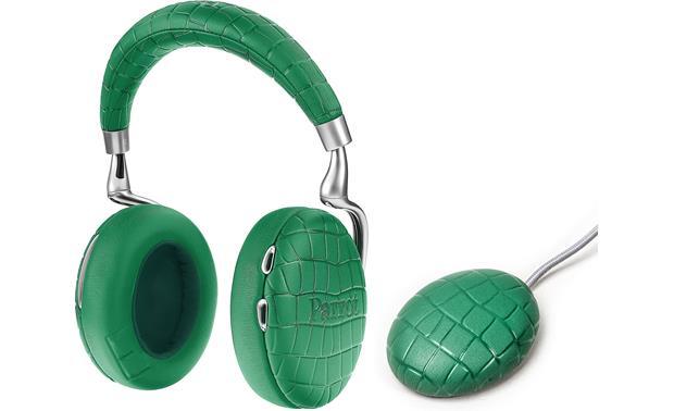 parrot zik 3 crocodile emerald green bluetooth wireless noise canceling headphones with. Black Bedroom Furniture Sets. Home Design Ideas
