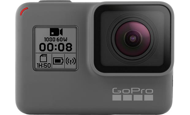 GoPro HERO5 Black Monitor camera settings, Wi-Fi status, and remaining memory card and battery life from the camera's front display