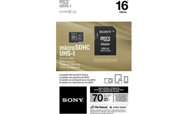 Sony microSDHC Memory Card Shown with packaging