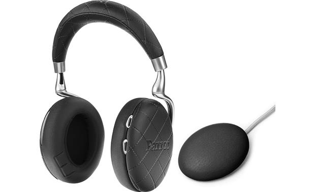 parrot zik 3 overstitched black bluetooth wireless noise canceling headphones with wireless. Black Bedroom Furniture Sets. Home Design Ideas