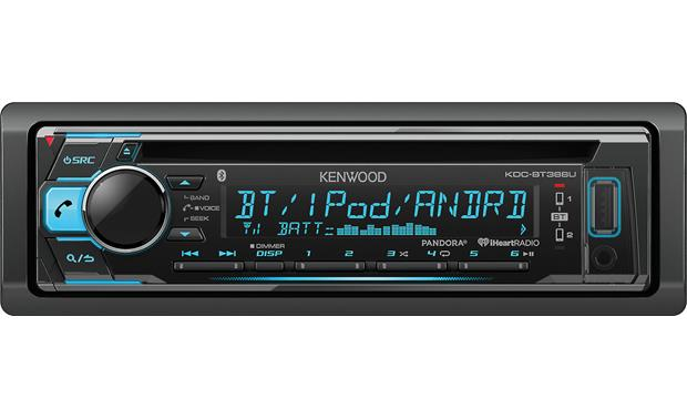 Kenwood KDC-BT368U Quickly switch between two smartphones to take hands-free calls and stream audio