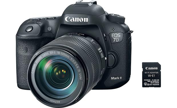 Canon EOS 7D Mark II Wi-Fi® Kit Camera, lens, and Wi-Fi adapter