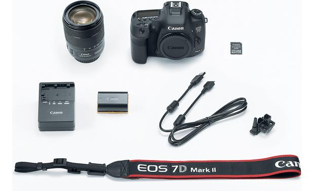 Canon EOS 7D Mark II Wi-Fi® Kit Shown with included accessories