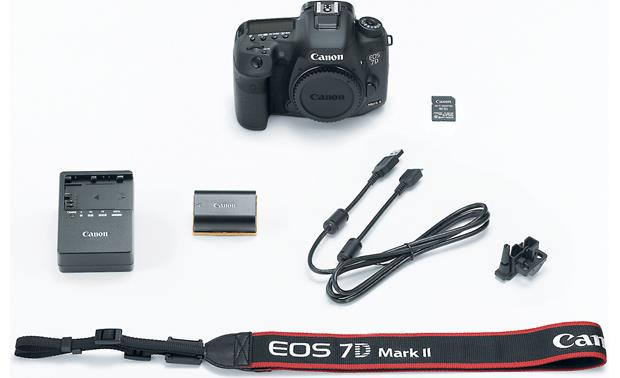 Canon EOS 7D Mark II Wi-Fi® Kit (no lens included) Shown with included accessories