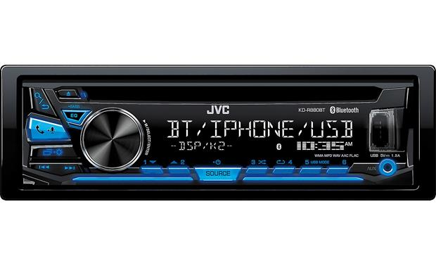 JVC KD-R880BT A simple layout with a 2-line display lets you quickly access all your music, including Pandora and iHeartRadio
