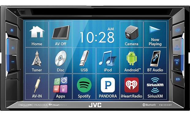 JVC KW-V230BT Quickly access tons of media from the 6.2