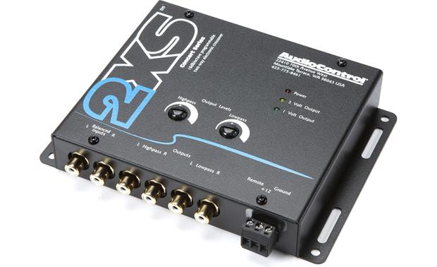 audiocontrol 2xs (black) stereo 2 way electronic crossover ataudiocontrol 2xs front