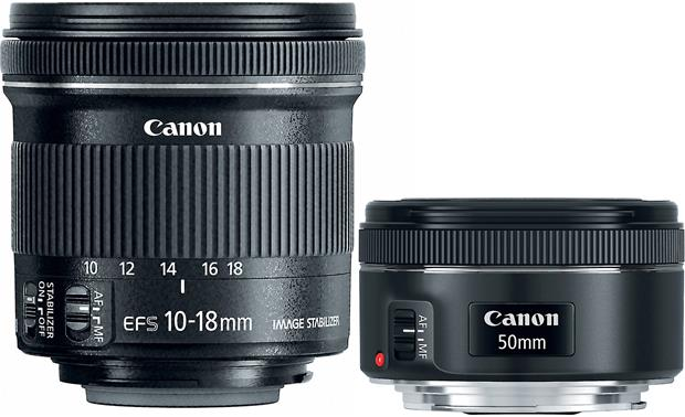 Canon Portrait & Travel Two Lens Kit Front
