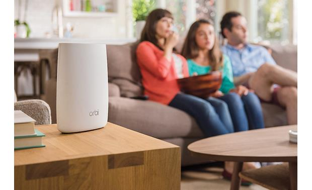 NETGEAR Orbi AC3000 Tri-band Wi-Fi® System (RBK50) Put the satellite in the living room for glitch-free movie streaming