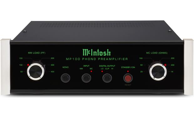 McIntosh MP100 Offers precise load matching control for moving magnet and moving coil cartridges