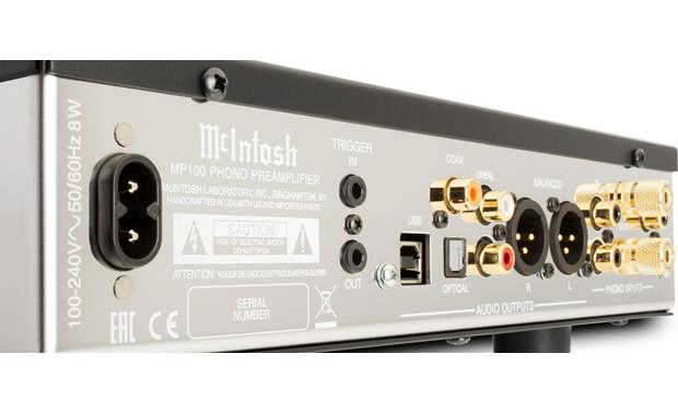 McIntosh MP100 High-quality connections ensure clean sound