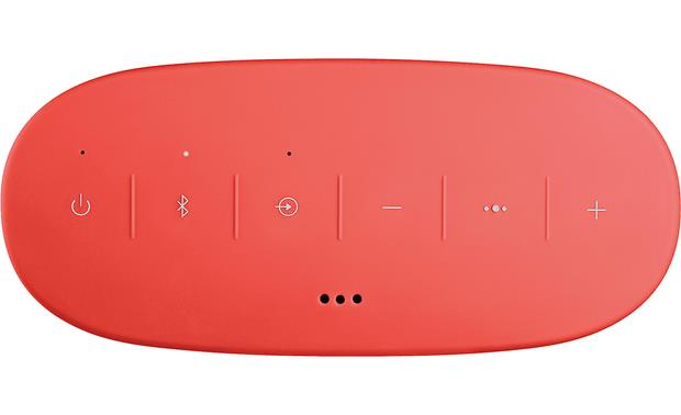 Bose® SoundLink® Color <em>Bluetooth®</em> speaker II Coral Red - top-mounted control buttons