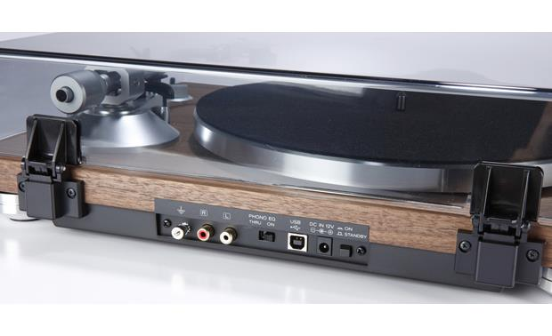 TEAC TN-400S RCA connections for beautiful analog sound, and a type-B USB port for creating digital files on your computer