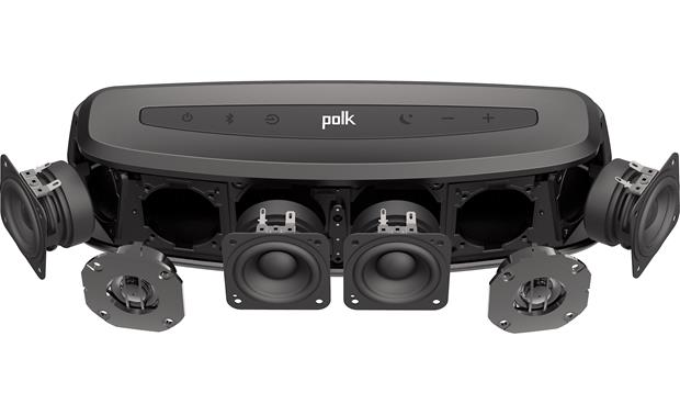 Polk Audio MagniFi Mini Sound bar has 4 midrange drivers and 2 tweeters