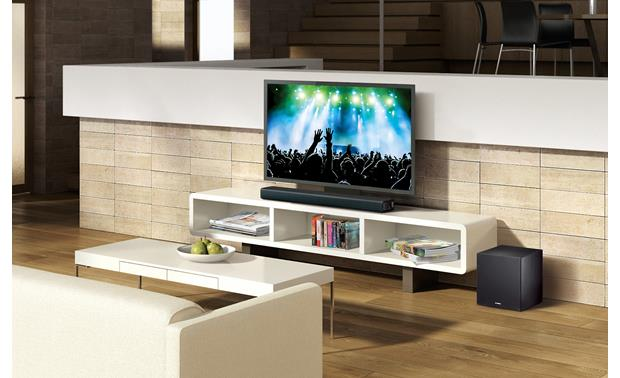 Yamaha YAS-706 Fits neatly into your TV setup and delivers virtual surround sound