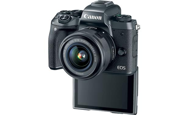 Canon EOS M5 Kit Front, with touchscreen facing forward
