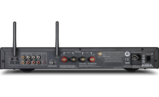 NAD C 338 Back, with Wi-Fi antennas raised