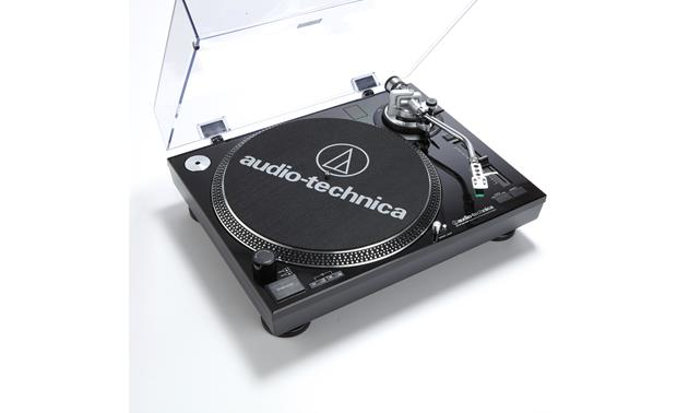Audioengine A2+/Audio-Technica AT-LP120BK-USB Bundle A high-torque direct-drive motor and variable pitch control make this 'table a DJ's dream