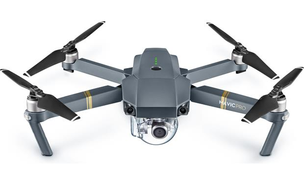 DJI Mavic Pro Fly More Combo (Factory Refurbished) The foldable wings extend when you're ready to fly