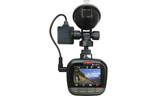 Cobra CDR 875G Cobra's CDR875G dash cam includes built-in GPS and connects with your smartphone via Bluetooth to give you access to Cobra's iRadar online community