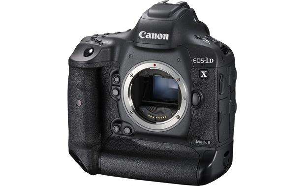 Canon EOS-1D X Mark II (no lens included) Front, angled view