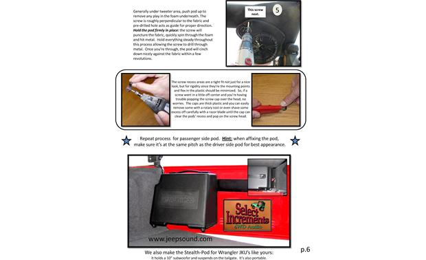 Select Increments JKU-Pods Installation Instructions: page 6
