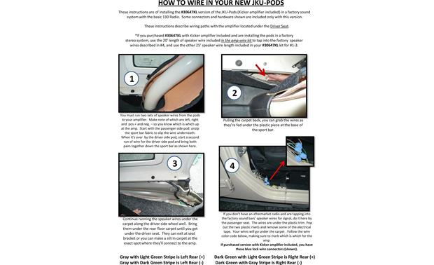 Select Increments JKU-Pods Installation Instructions: page 7