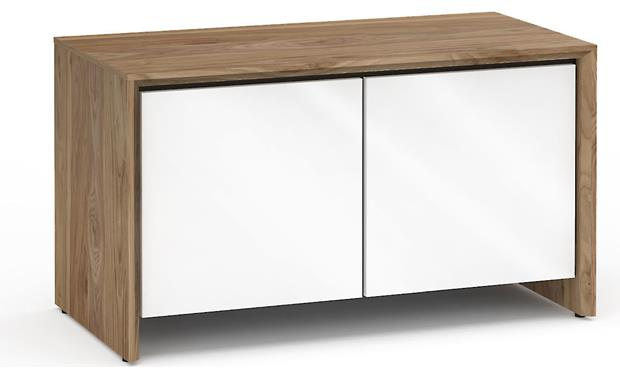 Salamander Designs Chameleon Collection Barcelona 221 Natural Walnut with Gloss White Doors