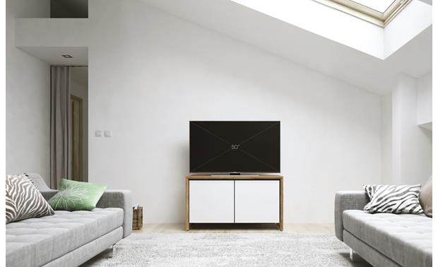 Salamander Designs Chameleon Collection Barcelona 221 Natural Walnut with Gloss White Doors (TV not included)