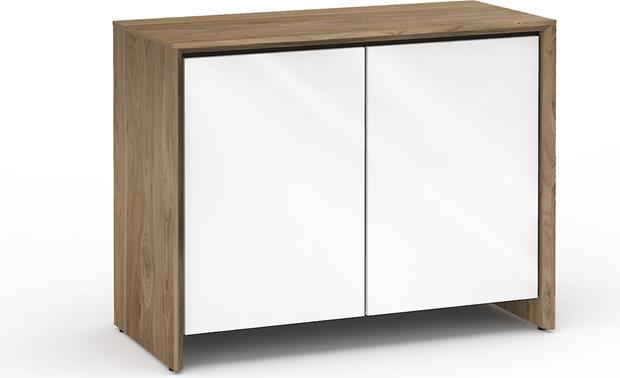Salamander Designs Chameleon Collection Barcelona 323 Natural Walnut with gloss white doors