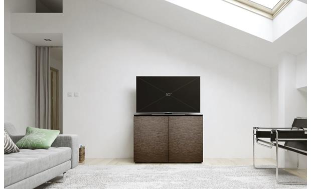 Salamander Designs Chameleon Collection Berlin 323 Features textured Wenge wood finish doors (TV not included)