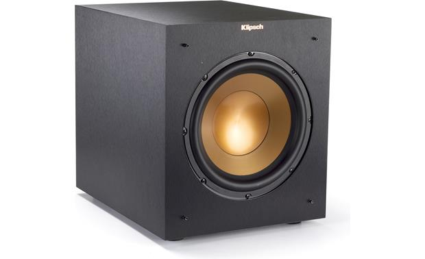Klipsch Reference R-10SWi Angled front view with grille removed