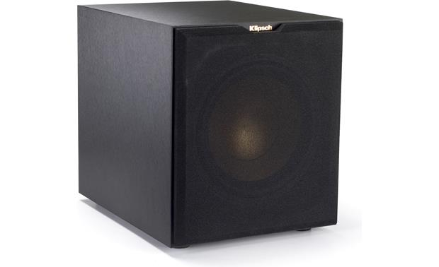 Klipsch Reference R-10SWi Angled view, grille on