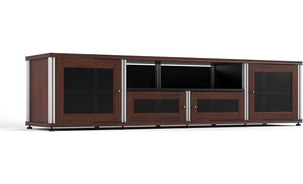 Salamander Designs Synergy System Model 245 Walnut with satin aluminum posts