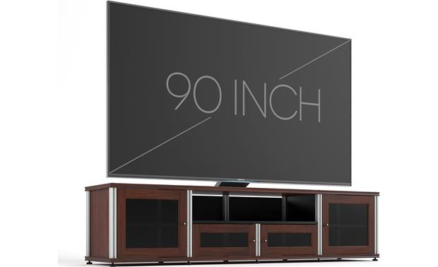 Salamander Designs Synergy System Model 245 Walnut with satin aluminum posts (TV not included)