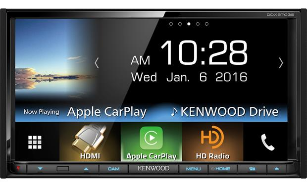 Kenwood DDX9703S Get your smartphone integrated with built-in Android Auto and Apple CarPlay