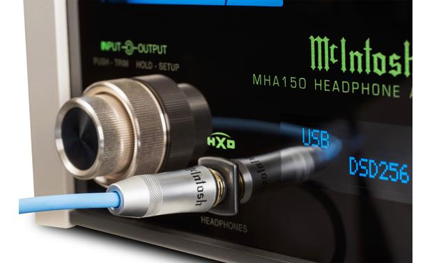 McIntosh MHA150 Close-up of headphone connection