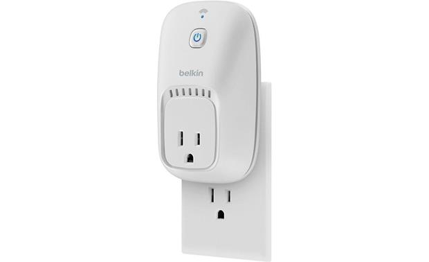 Belkin Wemo® Switch Plugs into a standard 120V outlet